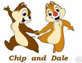 CartoonChip and Dale