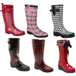 Various-styles-of-rain-boots