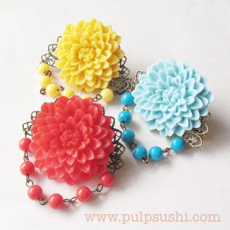 Chrysanthemum Brooches