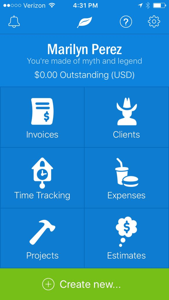 Freshbooks iPhone App