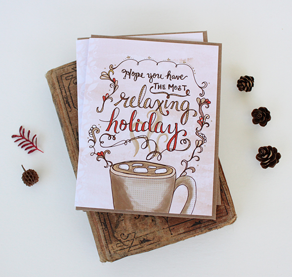 Holiday card by Cynla