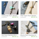 All Charm Necklaces Marked Down - $16.00
